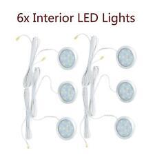 6Pcs 1.8W 12V Slim Car Interior LED Spot Light For Camper Van Boat Caravan T3X6