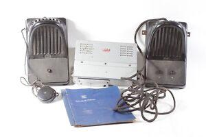 alte RFT Sprechanlage mit Lautsprechern und Zubehör anlage