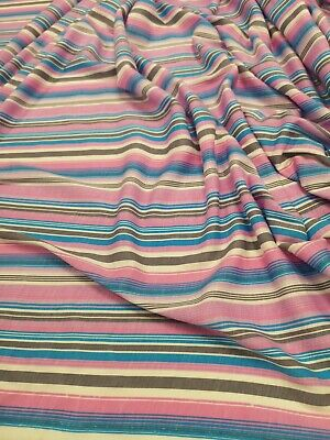 4meters stripe print spun poly fabric strecth crafts top quality