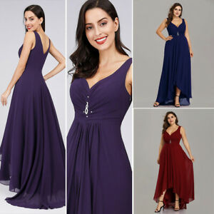 US-Ever-Pretty-Plus-Size-V-Neck-Bridesmaid-Dresses-Mother-of-Bride-Wedding-Gown