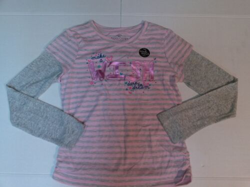 Girls Top Make a WISH Dare To Dream Rhinestone Foil Detail Long Sleeve Large
