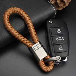 Keychain-Braided-Leather-Rope-Strap-Weave-Keyring-Ring-Key-Fob-Keychain-a