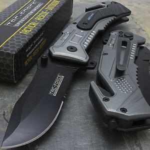 "7.5"" TAC AIR FORCE ASSISTED OPEN TACTICAL FOLDING KNIFE SPRING Pocket Blade"