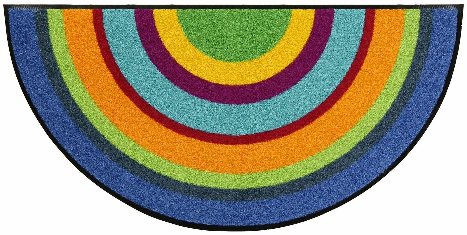Leoni Tappetino Varberg semicircolare 50 x 100 cm Lavabile Tappetino Sporco