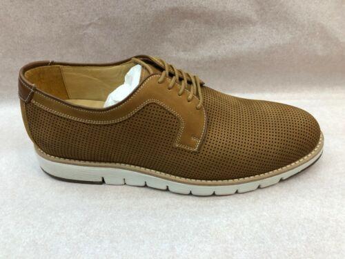 Johnston /& Murphy Collection Men/'s Shoes Martell Perfed Plain Toe Dk Camel