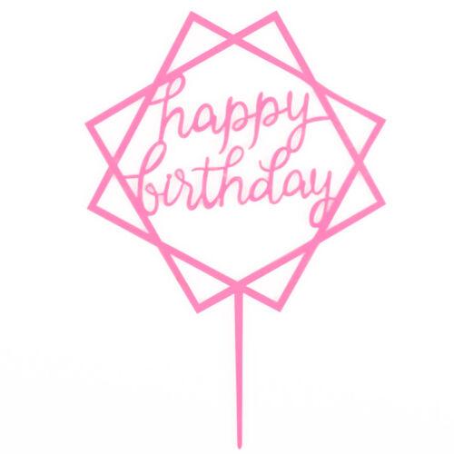 Acrylic Happy Birthday Love Cake Topper Dessert Decoration Birthday Party Gifts