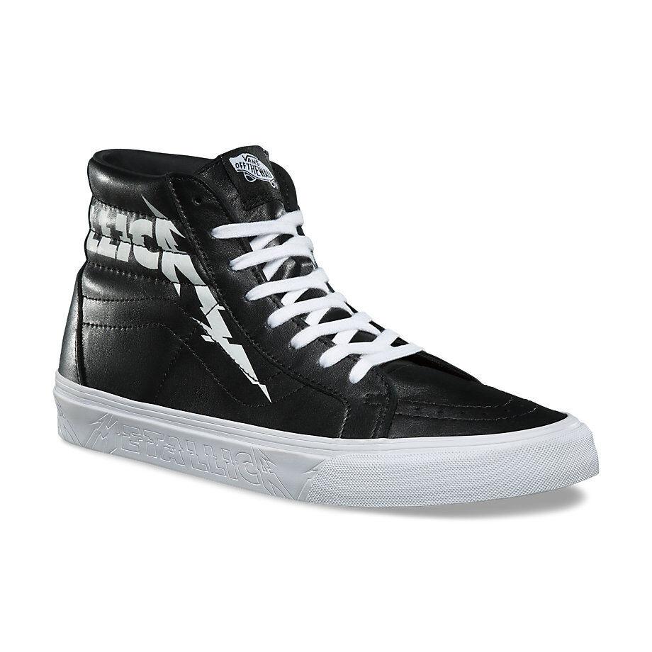 VANS x METALLICA Sk8-Hi Reissue Shoes *NEW Black Leather HARDWIRED SELF DESTRUCT
