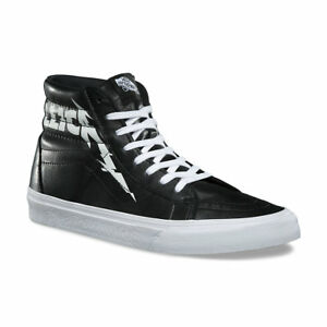 bb866aa45d VANS x METALLICA Sk8-Hi Reissue Shoes  NEW Black Leather HARDWIRED ...