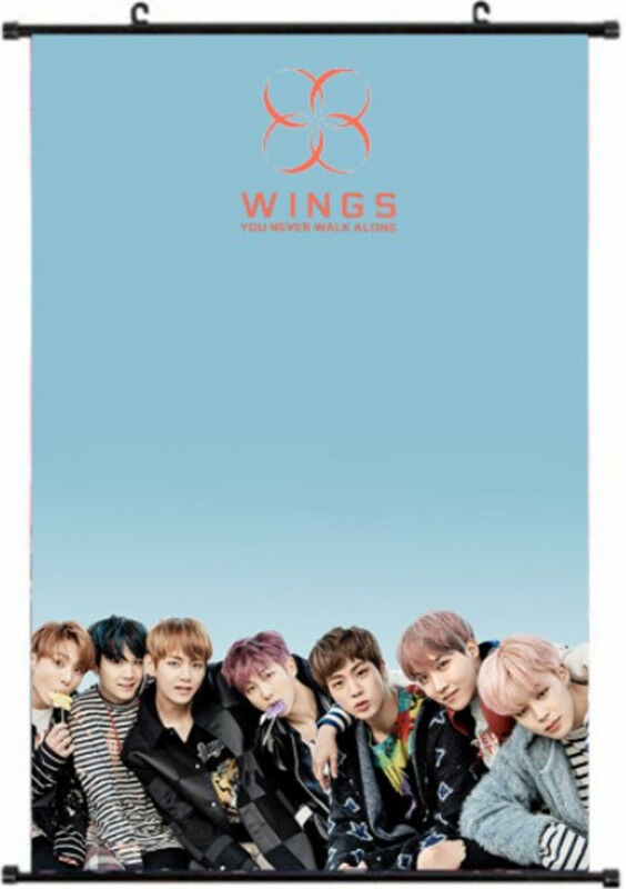 Kpop BTS Wings Wall Hanging Poster Bangtan Boys You Never Walk Alone Wallpaper V