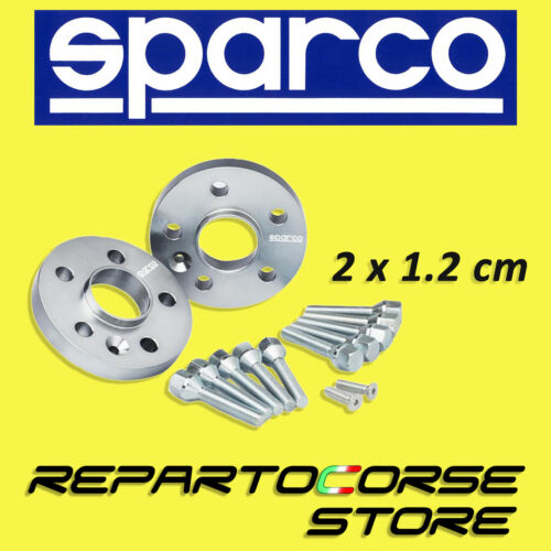 2 x 12mm SPARCO WHEEL SPACERS KIT AUDI A4 8ED B7-5x112-57.1 WITH BOLTS