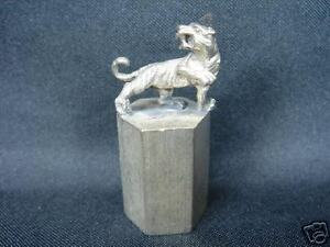 China-Antique-Tibetan-Silver-Paperweight-Qing-Period-Tiger-Figure