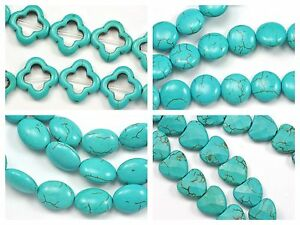 Chaîne 1-18 mm bouffi Larme nacre shell beads Jewellery Making Craft