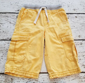 Details about MINI BODEN Boys Yellow Canvas Cargo Ribbed Waist Shorts 8 VGUC