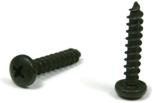 Black Oxide Stainless Phillips Pan Head Sheet Metal Screw  10 x 1//2 Qty 100