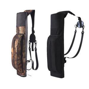 Archery-Quiver-Back-Waist-Shoulder-Bag-Arrow-Bow-Holder-Pouch-Target-Hunting