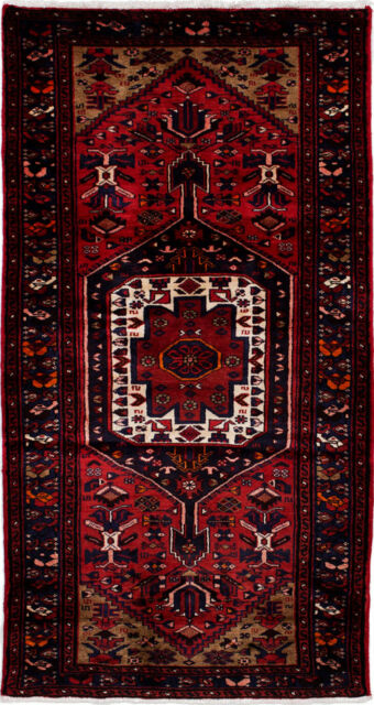 "Hand-knotted Carpet 3'6"" x 6'6"" Traditional Vintage Red Wool Rug"