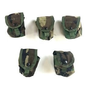 5 Woodland Hand Grenade Pouch, Army BDU Camo Military MOLLE II USGI Pouches