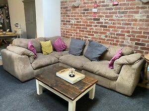 SCS Large Corner Sofa And & Snuggle Twirl Swivel Chair   eBay