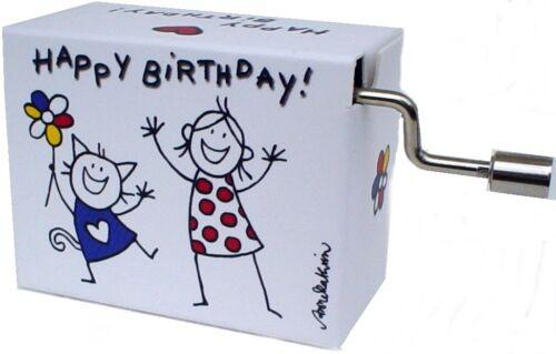 Joyeux Anniversaire Mini Orgue de Barbarie Boîtes à Musique Boîte à Chat Fille