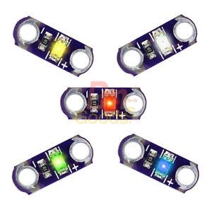 5//25PCS LilyPad Light SMD LED Red//Green//Blue//Yellow//White 3V-5V Module DIY Kits