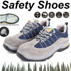 MENS STEEL TOE CAP HIKER SHOES SAFETY TRAINERS ANKLE BOOTS WORK OUTDOOR UK J1
