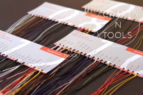 Sample Cards RITZA 25 Tiger Waxed Thread Julius Koch Leather Hand Sewing.4 sizes