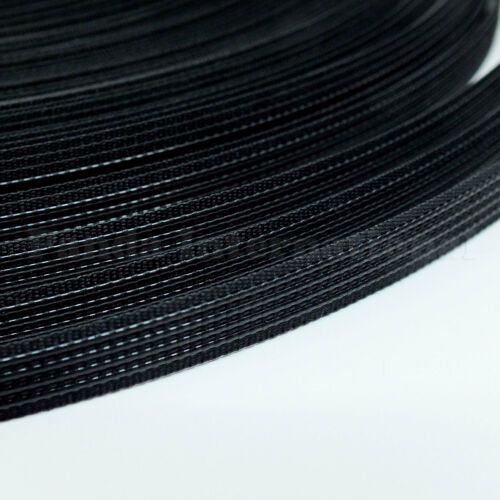 Uncovered Polyester Boning Black 50 yards 8 mm width for flexible support