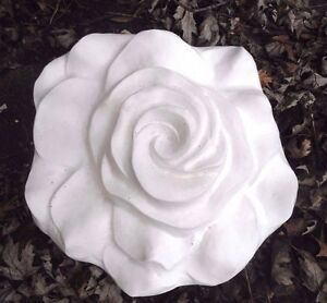 """Poly plastic rose flower mold plaster concrete mould 13"""" x 12"""" x 2.5"""" in center"""