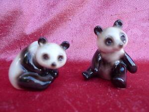 2-schone-alte-Porzellanfiguren-Pandabaren-Goebel-Pandas