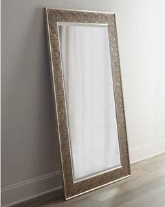 """Large Silver Champagne Leaf Wall Floor Mirror XL 70"""" 759526406154   eBay"""