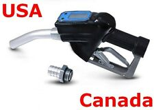 Fuel Gasoline Diesel Petrol Oil Nozzle Digital Flow Meter Fuel Delivery Gun