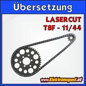Ersatzteil Elektro-Scooter 11/44 T8F Komplettübersetzung Ritzel/ Laser Kettenrad