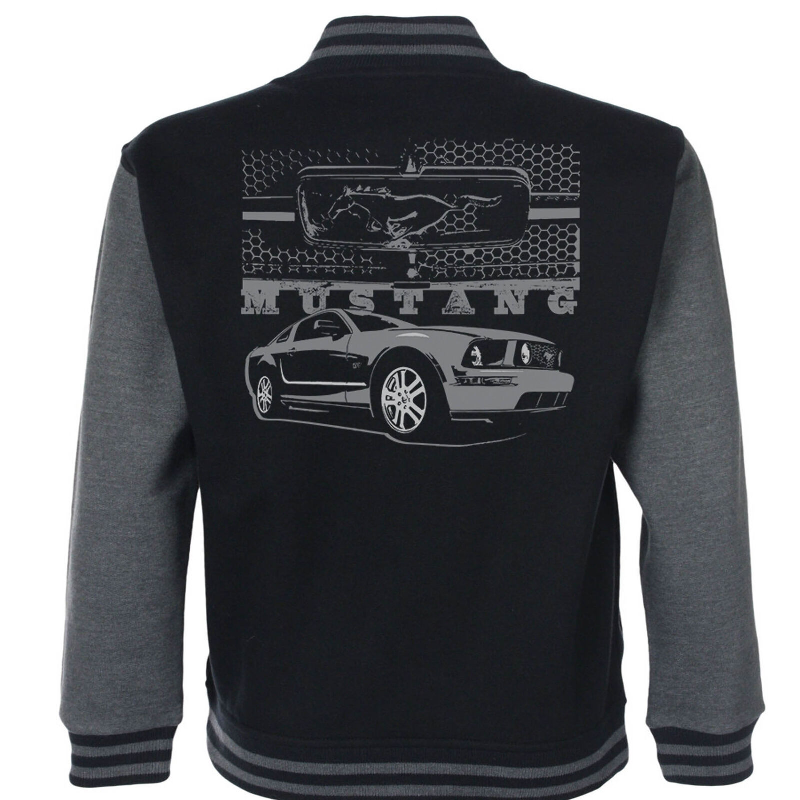Ford Mustang Mozzo per Baseball Giacca Stile Varsity American Classico Vintage