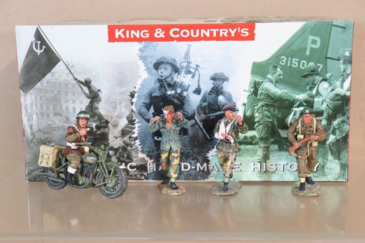 King & Country DD058 Día D 1944 Británico Soldados Dando Prisioschwarzs Set Caja Nv