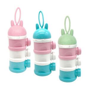 3 Layers Food-Grade Baby Milk Powder Dispenser Container Feeding Bottle