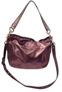 8aa57d980ff9 Image is loading COACH-Zoe-Pewter-Leather-Convertible-Shoulder-Cross-Body-