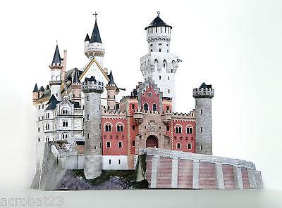 Building CASTLE NEUSCHWANSTEIN Germany 3D Puzzle Model Kit Scale 1:250