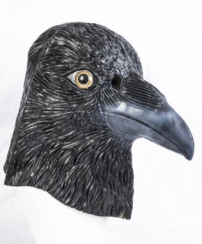 Halloween CROW Mask Black Bird faccia capo completo Lattice Gothic Stag RAVEN Divertente Party