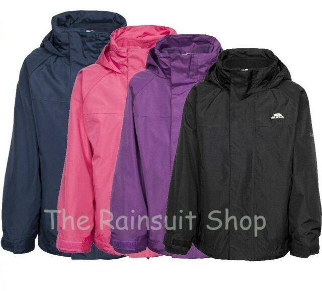 KIDS TRESPASS SKYDIVE 3-IN-1 WATERPROOF JACKET BOYS GIRLS RAIN COAT 2-12yrs