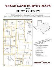 Texas Land Survey Maps for Hunt County : With Roads, Railways, Waterways,...