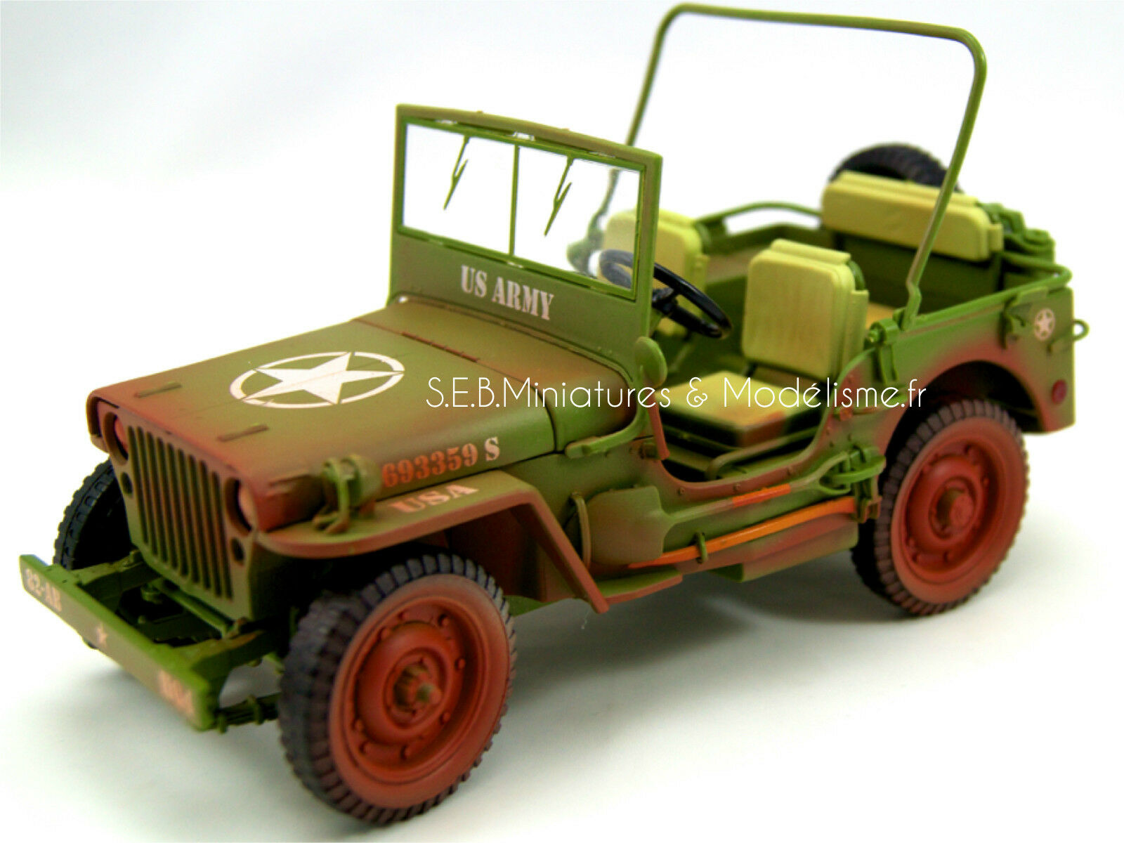 JEEP WILLYS U.S.ARMY VERSION LOOK  SALE  1942 1/18 T9