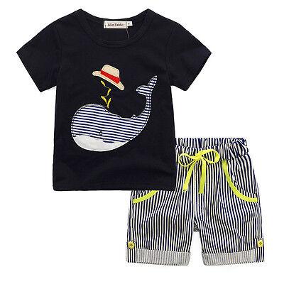 Summer Toddler Kids Baby Boy T-shirt Tops+Shorts Short Pants Outfit 2PCS Clothes