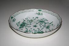 Meissen reiche indische Malerei, grün, Goldpunkte, Goldrand, Schüssel 25 cm