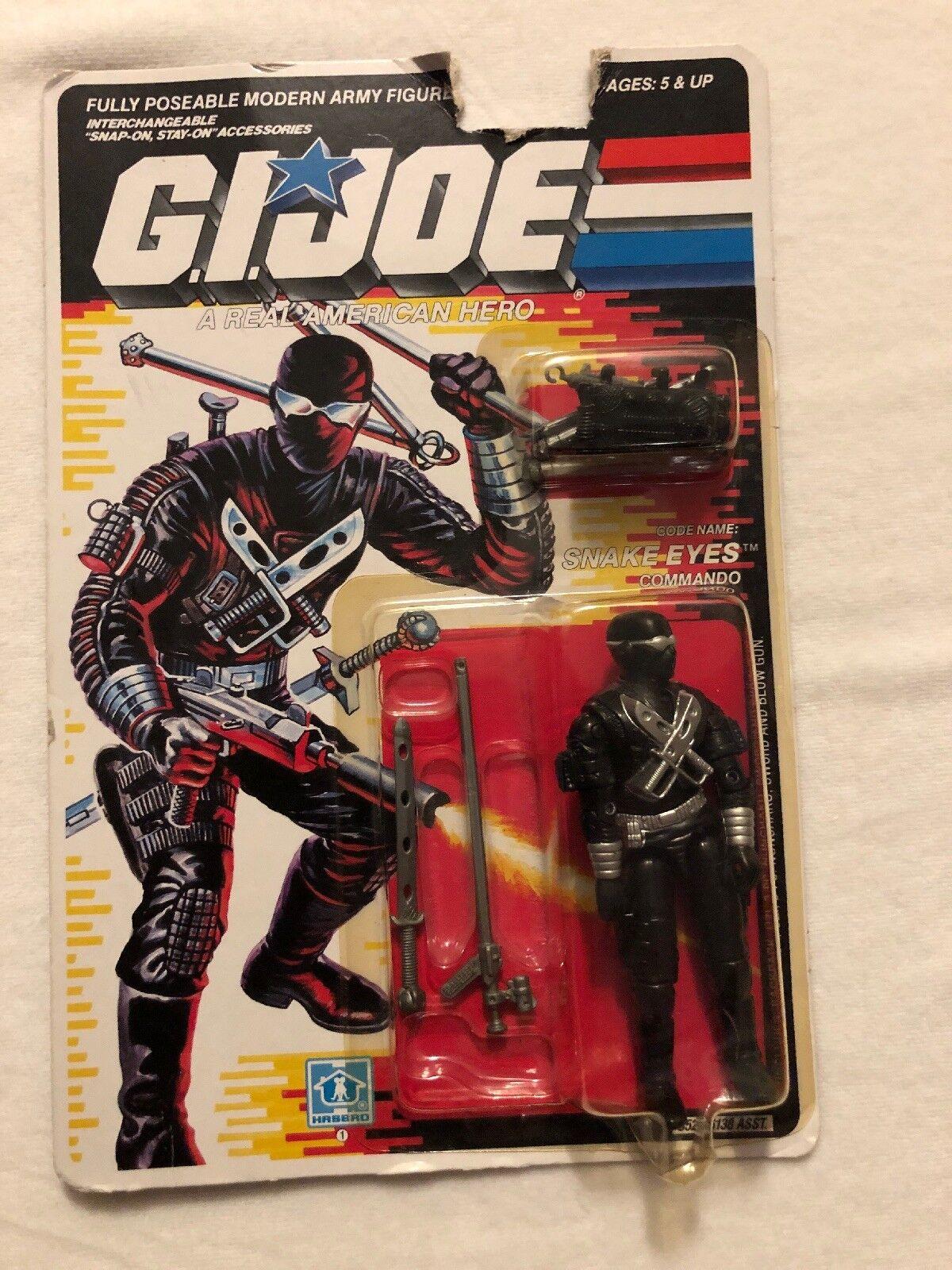 Gi Joe Snake Eyes 1989 sellado en tarjeta.
