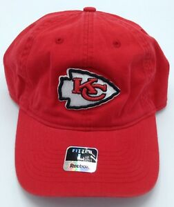 Image is loading NFL-Kansas-City-Chiefs-Reebok-Adult-Slouch-Curved- 8898d708687