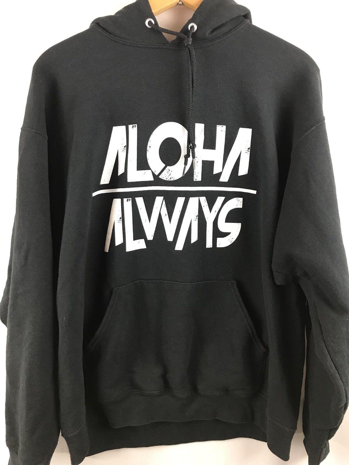 Aloha Always Hoodie Pullover Sweat Shirt Hawaii XL