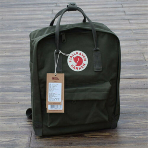 7L//16L//20L Fjallraven Kanken Canvas Backpack Sport Travel Shoulder Bag Rucksack