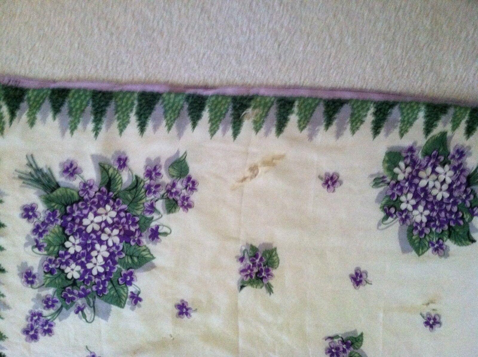 Vtg Ceil Chapman Purple & Green on White Silk Sca… - image 5