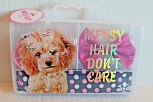 Justice Girls Puppy Dog Hair Accessories Boxed Set Headband Bow Hair ... 6d398daa8b3