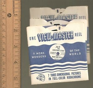 VM-156-Viewmaster-reel-Christmas-your-choice-of-reels